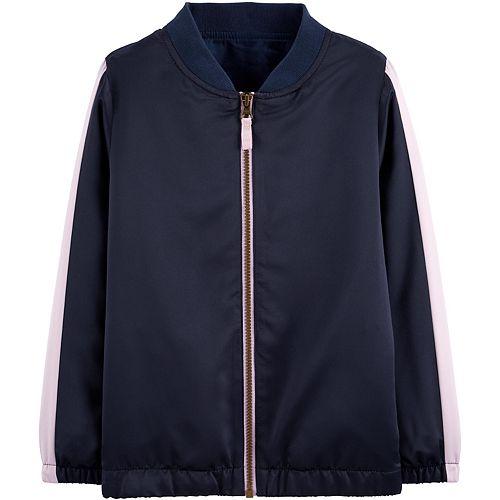 Girls 4-12 Carter's Flip Sequin Zip-Up Satin Bomber Jacket
