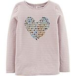Girls 4-12 Carter's Sequin Heart Jersey Tee