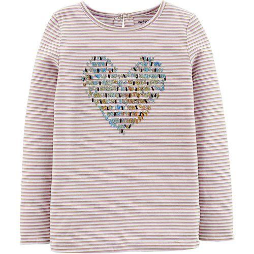 Girls 4-12 Carter's Sequin Heart Jersey Tee