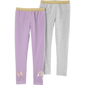Girls 4-12 Carter's 2-Pack Sparkly Unicorn Leggings