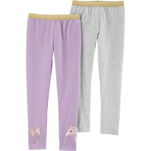 Girls 4-12 Carter's 2-Pack Sparkly Unicorn Leggings