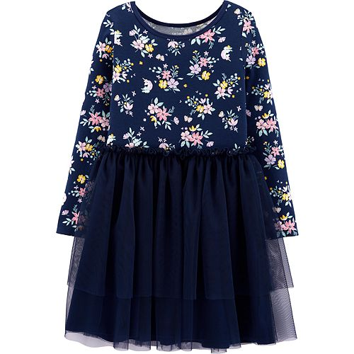Girls 4-12 Carter's Floral Tutu Jersey Dress