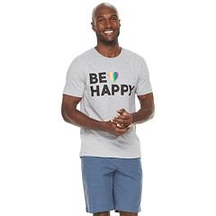 Men's Family Fun 'Be Happy' Rainbow Pride Graphic Tee