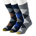 Men's GOLDTOE® 3-pack Carlyle Argyle Crew Fashion Socks