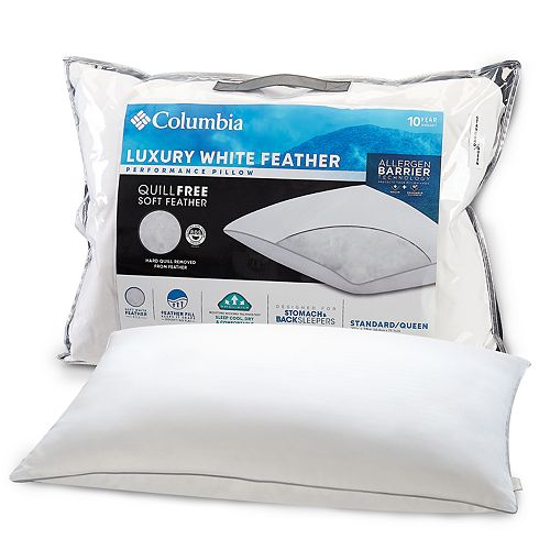 Columbia Back/Stomach Sleeper Luxury Feather Performance Pillow