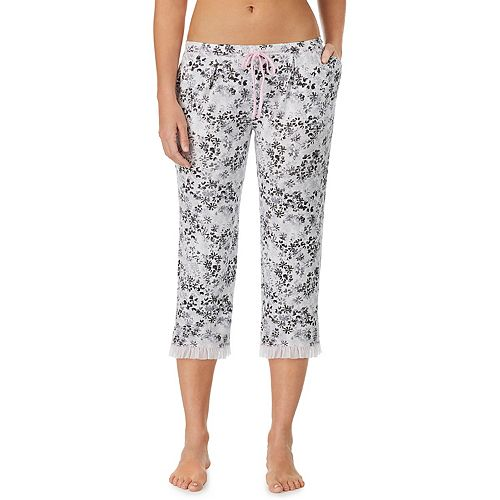 Women's Layla Printed Ruffle-Hem Capri Pajamas