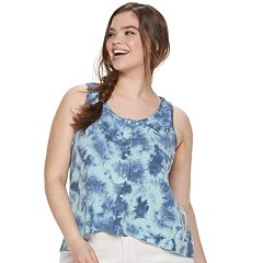 Juniors' Plus Size Mudd® Button Front Tank Top