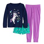 Girls 4-14 & Plus Size SO® Top, Shorts & Pants Pajama Set