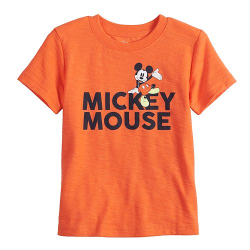 """Disney's Mickey Mouse Toddler Boy """"Mickey Mouse"""" Slubbed Graphic Tee by Jumping Beans®"""