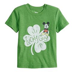 Disney's Mickey Mouse Baby Boy Four Leaf Clover Graphic Tee by Jumping Beans®