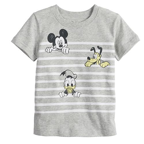 Disney's Mickey Mouse Toddler Boy Mickey, Pluto & Donald Duck Striped Tee by Jumping Beans®