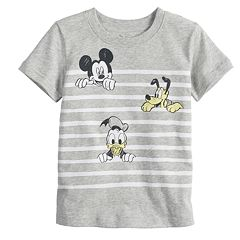 Disney's Mickey Mouse Baby Boy Mickey, Pluto & Donald Duck Striped Tee by Jumping Beans®