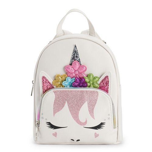 OMG Accessories Flower Crown Unicorn Mini Backpack