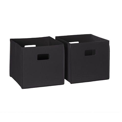 RiverRidge Home 2-pc Folding Storage Bin Set