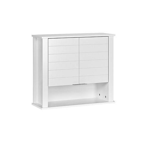 RiverRidge Home Madison White 2-Door Wall Cabinet
