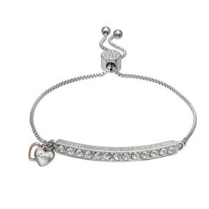 "Brilliance ""Mother Daughter"" Bar Bracelet with Swarovski Crystals"