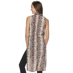 Juniors' Crave Fame Knotted Front Maxi Shirt