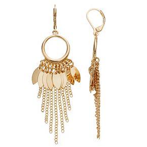 Simply Vera Vera Wang Gold Tone Chain Drop Earrings