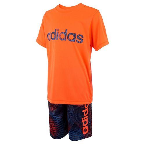 Boys 4-7x adidas Graphic Tee & Shorts Set