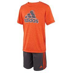 Boys 4-7x adidas Logo Graphic Tee & Shorts Set