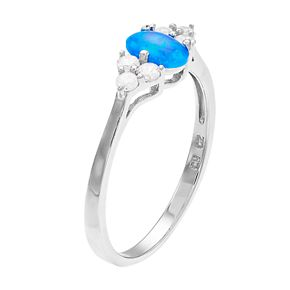 Opalescent Cubic Zirconia Oval Ring
