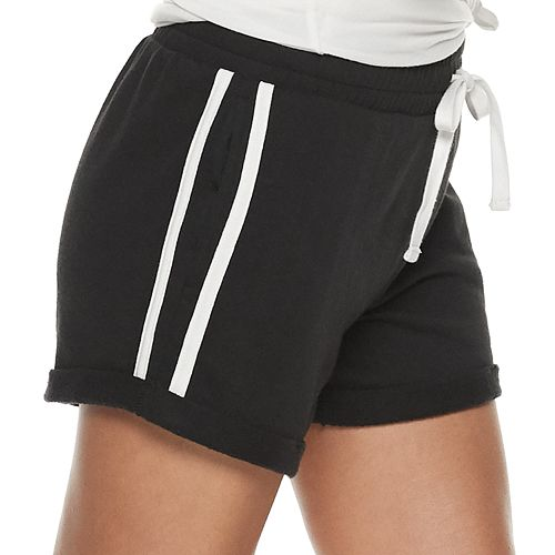 Juniors' SO® Side Pieced French Terry Short