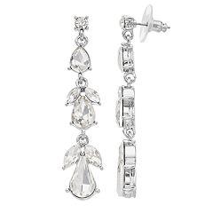 Simply Vera Vera Wang Simulated Crystal Cluster Earrings