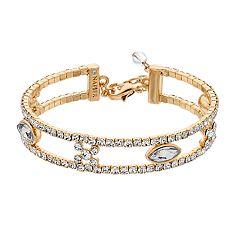Napier Crystal 2-Row Bracelet