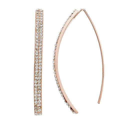Simply Vera Vera Wang Pave Threader Earrings