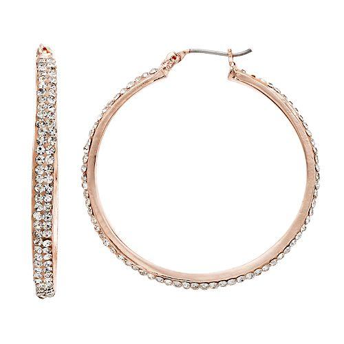 Simply Vera Vera Wang Pave Hoop Earrings