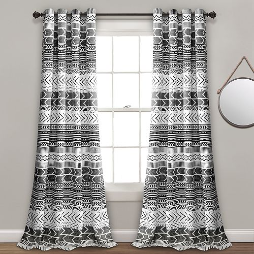 Lush Decor 2-pack Hygge Geo Room Darkening Window Curtains - 52'' x 84''
