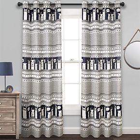 Lush Decor 2-pack Llama Stripe Room Darkening Window Curtains - 52'' x 84''