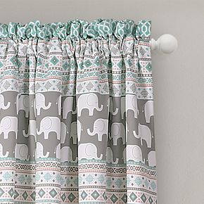 Lush Decor 2-pack Elephant Stripe Room Darkening Window Curtains - 52'' x 84''