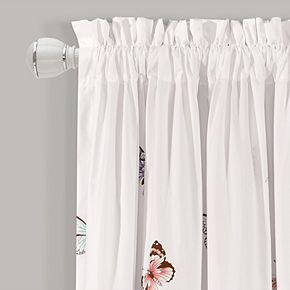 Lush Decor 2-pack Flutter Butterfly Window Curtains - 52'' x 84''