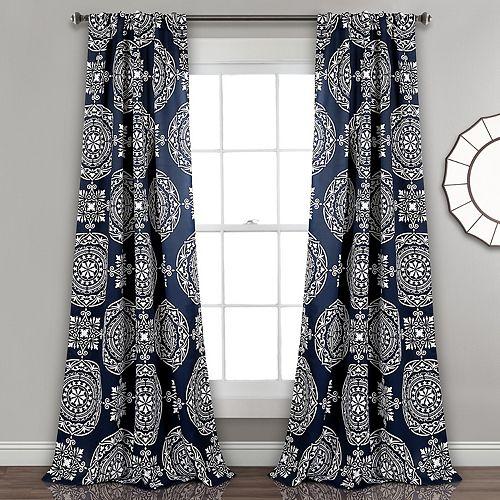 Lush Decor 2-pack Karmen Medallion Room Darkening Window Curtains - 52'' x 84''