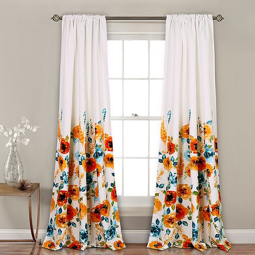 Lush Decor 2-pack Percy Bloom Room Darkening Window Curtains - 52'' x 84''