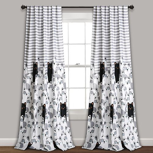 Lush Decor 2-pack Stripe Bear Room Darkening Window Curtains - 52'' x 84''