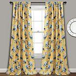 Lush Decor 2-pack Tania Floral Room Darkening Window Curtains