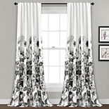 Lush Decor 2-pack Zuri Floral Room Darkening Window Curtains
