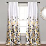 Lush Decor 2-pack Zuri Floral Room Darkening Window Curtains