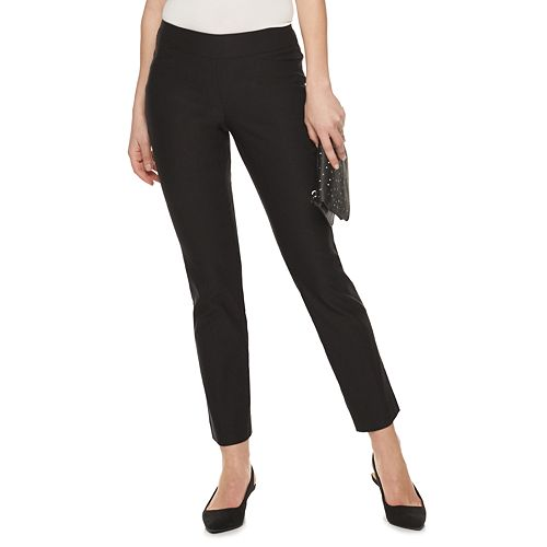 Petite Apt. 9® Straight-Leg Pull On Pants