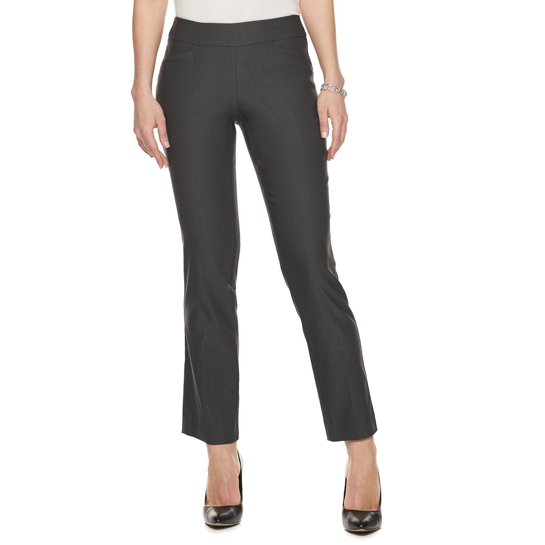 Petite Apt. 9® Straight-Leg Pull On Pants