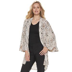 acb81a84cea Women's Jennifer Lopez Floral Open-Front Kimono