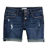Girls 7-16 Mudd® Cuffed Jean Midi Shorts