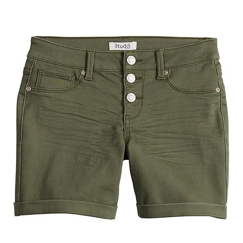 Girls 7-16 Mudd® Cuffed Jean Midi Shorts