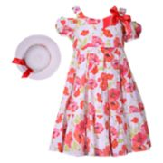 Girls 7-16 Bonnie Jean Floral Dress with Hat