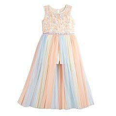 21a85daf0 Girls 7-16 Bonnie Jean Rainbow Stripe Midi Dress. sale