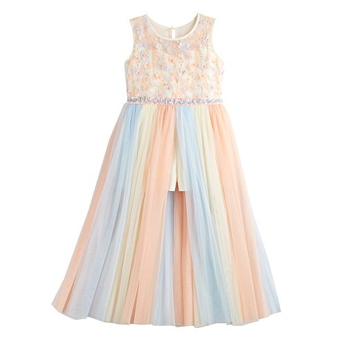 Girls 7-16 Bonnie Jean Rainbow Stripe Midi Dress