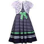 Girls 7-16 Bonnie Jean Poplin Striped Dress