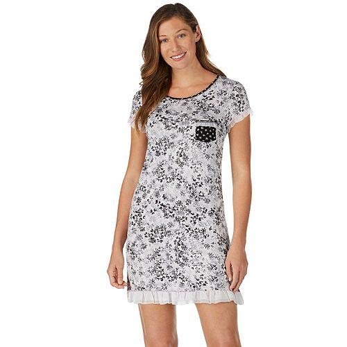 Women's Layla Printed Ruffle-Trim Sleepshirt